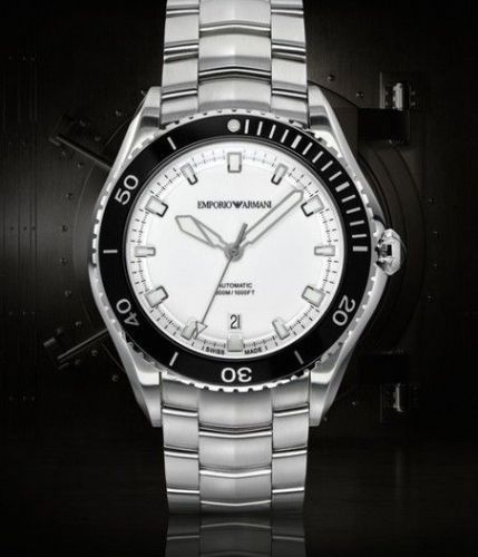 EMPORIO ARMANI Swiss Made Automatic Steel Gents Watch ARS9003